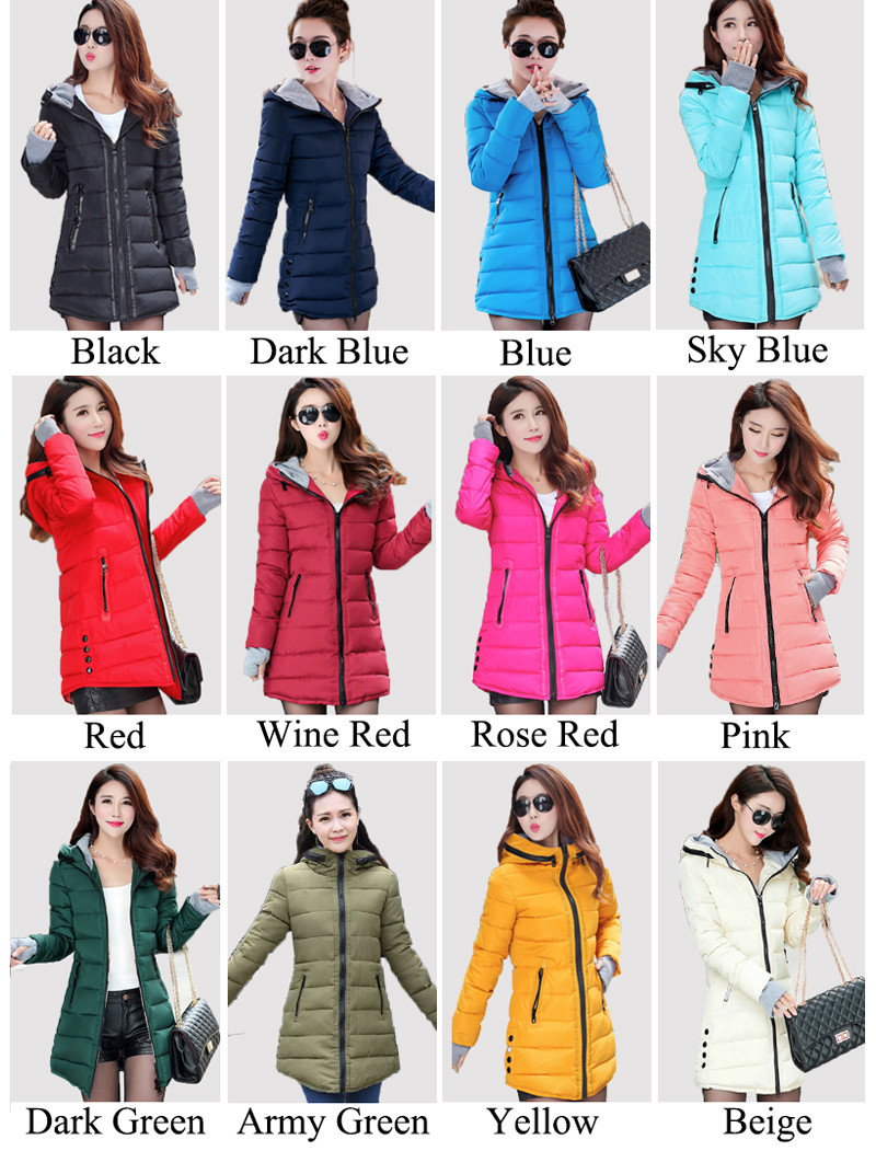 HTB1KU0FXcvrK1Rjy0Feq6ATmVXaj 2019 women winter hooded warm coat plus size candy color cotton padded jacket female long parka womens wadded jaqueta feminina