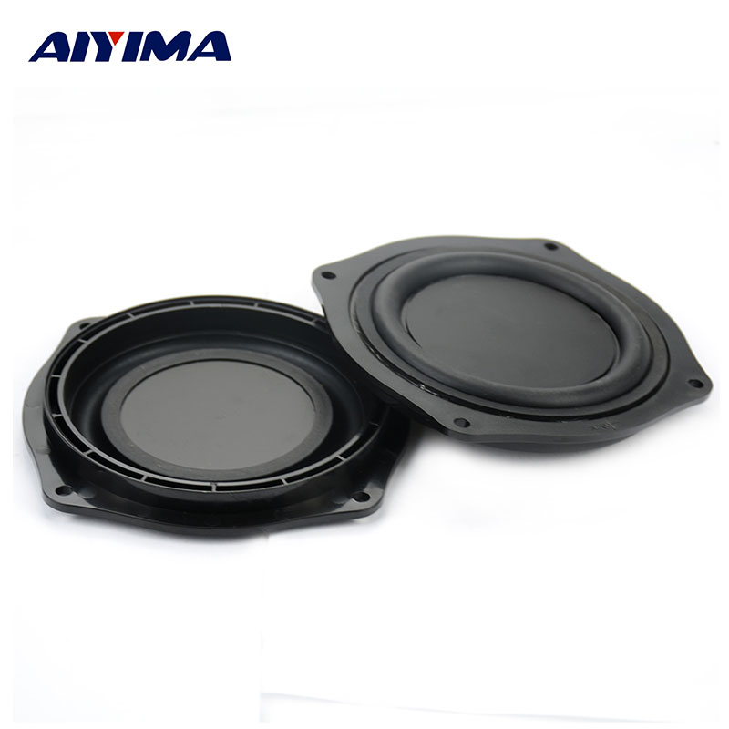 AIYIMA 2Pcs 4Inch Audio Speakers DIY Bass Speaker Vibrating Membrane Passive Bass Woofer Diaphragm Plate цена 2017