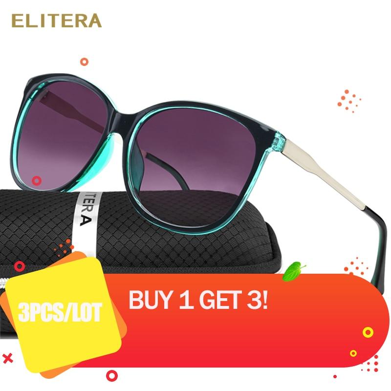 3 PCS/Lot ELITERA marque Star Style luxe femme lunettes de soleil femmes surdimensionné lunettes de soleil Vintage extérieur lunettes de soleil