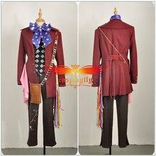 Fantasy Adventure Film Wonderland Through The Looking Glass Mad Hatter Cosplay Kostuum Volwassen Mannen Geul Broek Vest Halloween