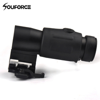 3x Magnifier Scope Quick Release For Hunting Rifle With Picatinny 20mm Rail Flip To Side Mount