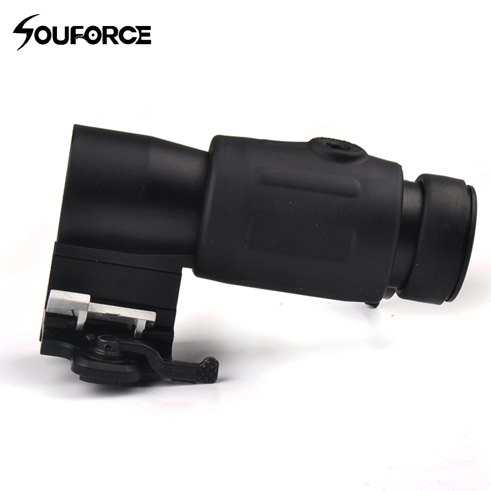 3x Magnifier Scope Quick Release for Hunting Rifle With Picatinny 20mm Rail Flip to Side Mount Hunting ohhunt hunting accessories quick release side lock scope sight laser mount w dual 7 8 picatinny rail for ak aks saiga rifle