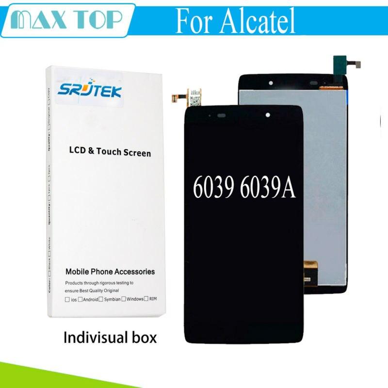 imágenes para Para Alcatel One Touch Ídolo 3 4.7 LTE 6039 6039A 6039 K 6039Y 6039J 6039 S pantalla LCD Full + digitalizador de pantalla Táctil Negro asamblea