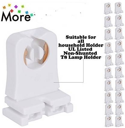 Us 83 99 16 Off Non Shunted T8 Lamp Holder Socket Tombstone For Led Fluorescent Tube Replacements Turn Type Lampholder Medium Bi Pin Socket For In