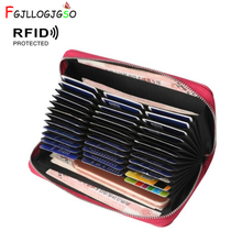 FGJLLOGJGSO walet New RFID wallet women PU leather wallet purse zipper coin purse female luxury wallet portfel carteira feminina