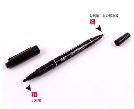 Анти-травление печатной платы чернильный маркер двойная ручка для DIY PCB