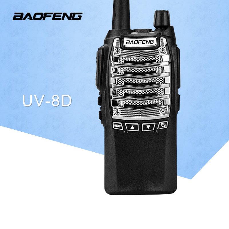 tvåvägsradio Baofeng BF-UV8D Walkie Talkie UHF 8W 128CH DTMF Dual PTT FM-sändare