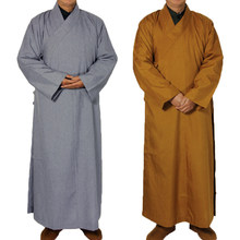 2 colors Shaolin Temple costume Zen Buddhist Robe Lay Monk Meditation Gown Buddhism Monk clothes set Training Uniform Suit(China)