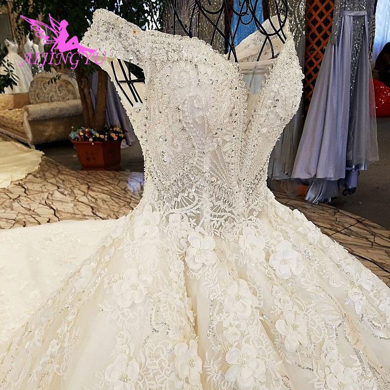 Image 2 - AIJINGYU Wedding Dress Retro Norway Ball Prices White Simple Lace Luxury Gowns Wedding DressesWedding Dresses   -