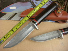 Rare Ebony Damascus Handmad Camping &Hunting knife Fixed Blade Knife High quality Damascus Steel Collection Knife