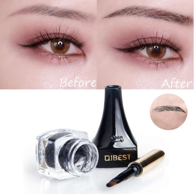 0e7875196bf ... Qibest 3D Eyebrow Fiber Gel Eyes Makeup Extension Waterproof Eye Brow  Beauty Cosmetics Kits For Women ...