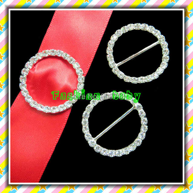 30mm circle round rhinestone buckle for invitation cards