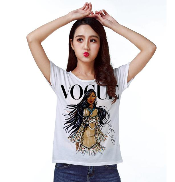 Track Ship + Vintage Retro T-shirt Top Tee  Personality Model Fashion Brown Skin Girl 0779