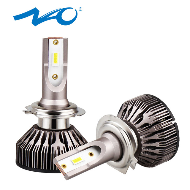 NAO H7 led h4 turbo bulb h11 led h1 car led headlights hb4 hb3 lamp for auto 12V h8 beam h9 9006 9005 car Light moto bulb 6000K