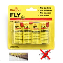 4 Rolls/pack Insect Bug Fly Glue Paper Killer Catcher Trap Ribbon Strip Sticky Fies Pest Control Home Summer Tools