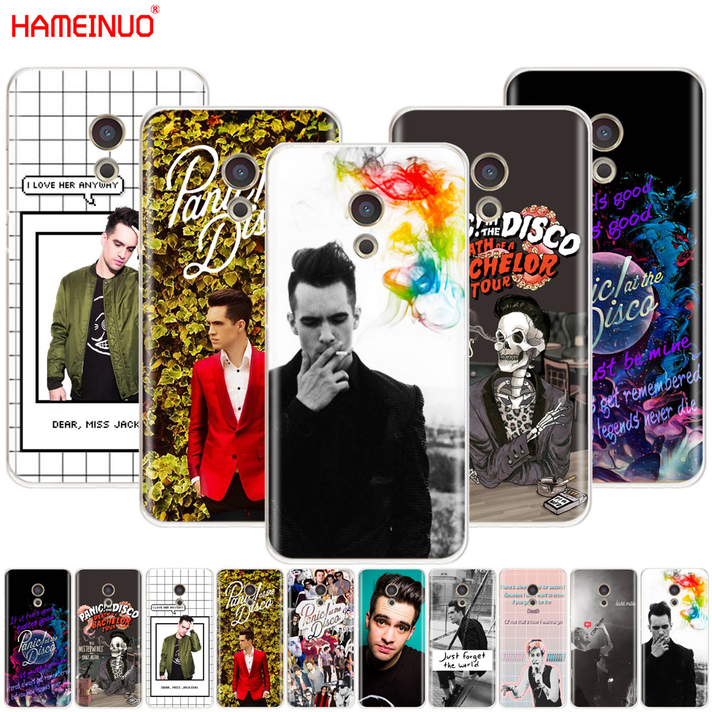 HAMEINUO Panic At The Disco brendon urie Cover phone Case for Meizu M6 M5 M5S M2 M3 M3S MX4 MX5 MX6 PRO 6 5 U10 U20 note plus