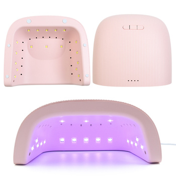 48W UV Lamp Nail Dryer With 18 LED 30/60/90s Timer Curing All Gel Polish for Manicure Smart Sensor Pink Nail Lamp Tools LA1504 1