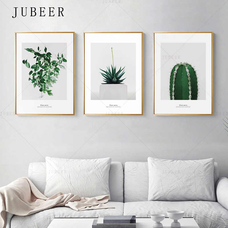 Cactus Decoration Picture Nordic Style Potted Poster and Prints Plant Leaves Canvas Wall Art Prints for Living Room Home Decor