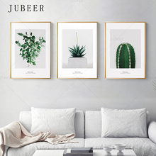 Cactus Decoration Picture Nordic Style Potted Poster and Prints Plant Leaves Canvas Wall Art for Living Room Home Decor