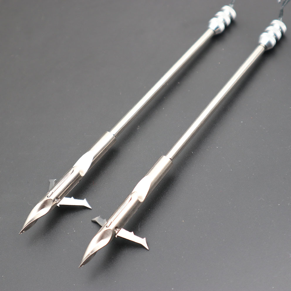 6pc Hotest Stainless Steel Bow Fishing Dart Slingshot Arrow Head Broad Heads Arrowheads Catapult Dart Hunting Tips