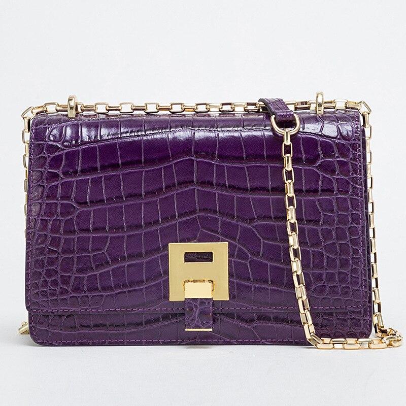 Leboy Black purple Kette red Frauen Geprägte Echt tasche Dame Einzelnen Weiblichen green Handtasche Leder Schulter Hjkl Crossbody Tasche cT6fqBWYww