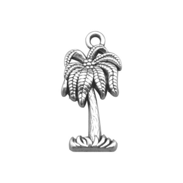 ᗐMi forma 60 piezas plata antigua plateada árbol de coco violación ...
