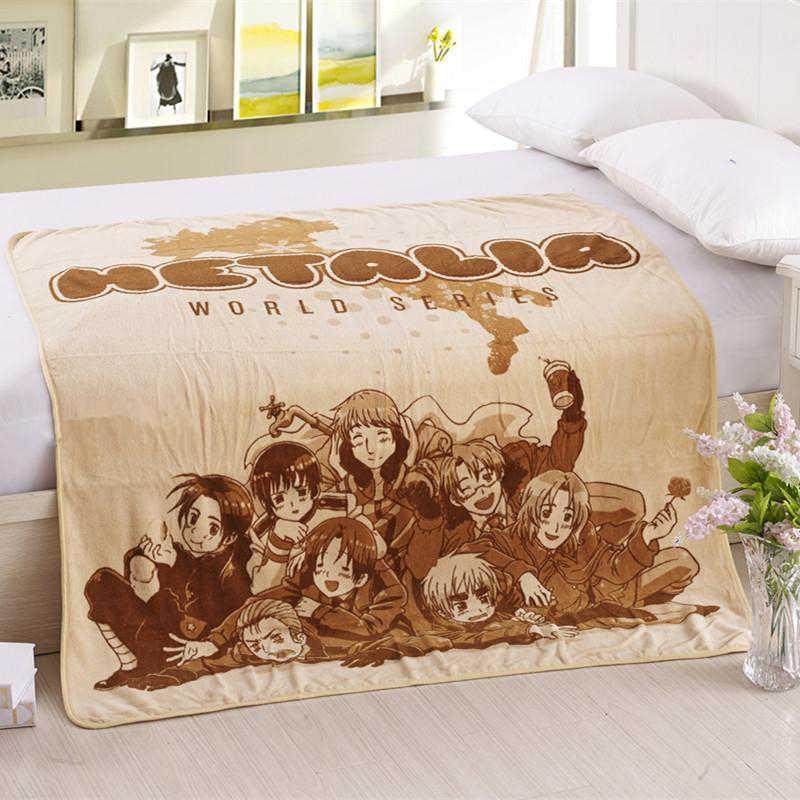 Anime etalia: Axis Powers grupo Serie Mundial manta de invierno cama caliente sofá forro polar de felpa en color coral manta edredón Cosplay