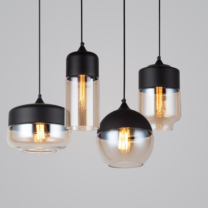 US $39.19 49% OFF|Vintage Anhänger Lichter Globus Glas Anhänger Lampe Küche  Leuchten Moderne Hanglamp luminaria loft industrie decor Beleuchtung-in ...