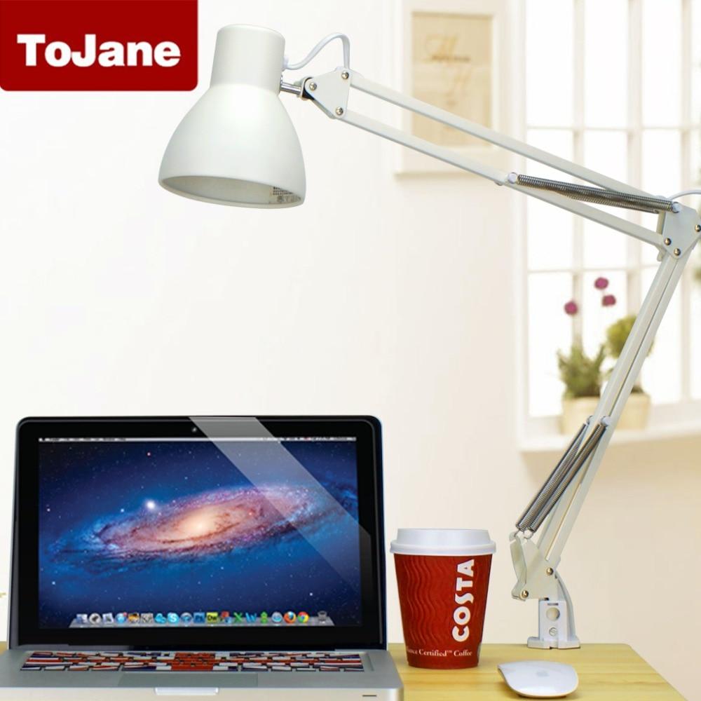 LED Desk Lamp Clip Lamp ToJane TG801 Swing Arm Lamp with Clamp Good for eyes Table Lamp окошкина е ред простейший способ выучить словарные слова