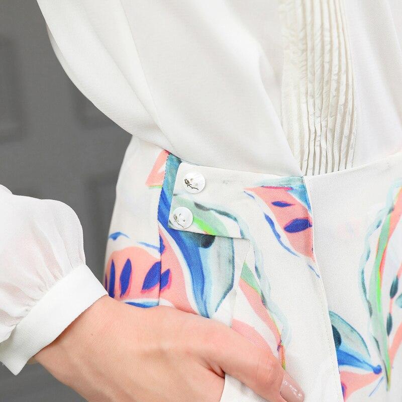 Soie Blanc Femme Femmes Dames Harajuku Grande Lourde Streetwear K796 Broeken Sarouel Floral Taille Pantalon Voa Imprimé 100 w1UXRCCq