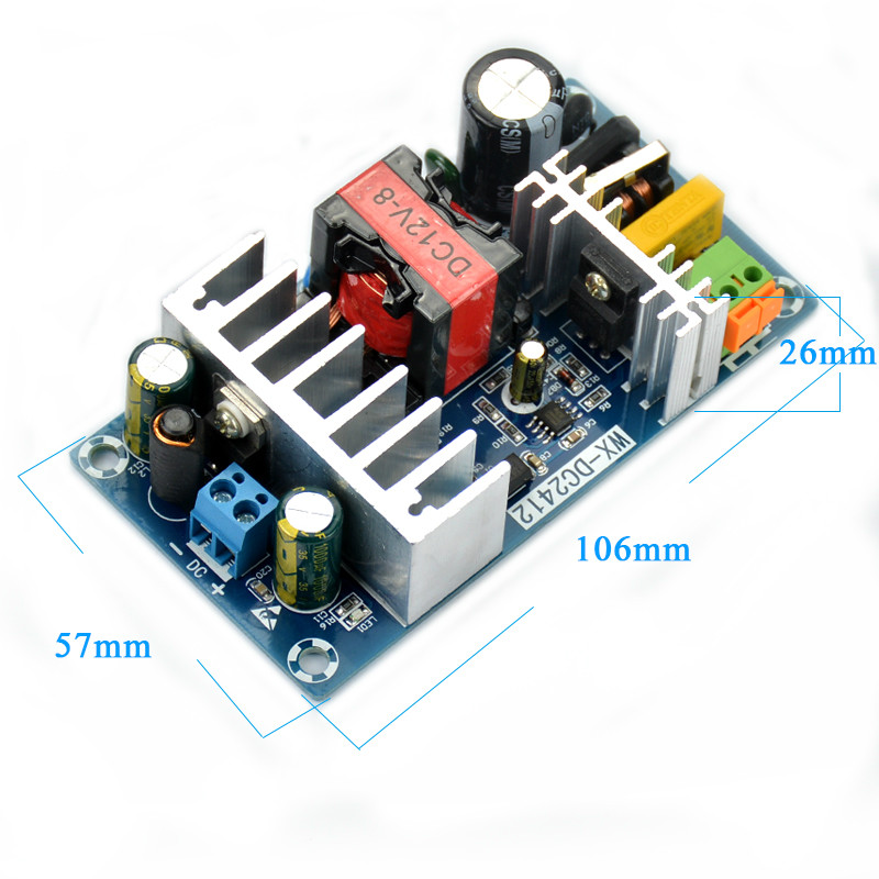 100W Switching Power Supply Module AC 85-265V 50/60HZ TO DC12V 8A meanwell 12v 350w ul certificated nes series switching power supply 85 264v ac to 12v dc