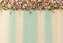 Laeacco Flores Cortina Do Palco Do Casamento Backdrops Para Estúdio de Fotografia Fotografia Fundos Fotográficos Personalizados