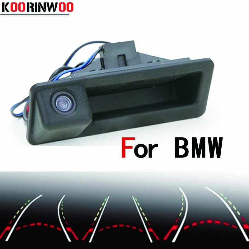Koorinwoo Parking Car Rear View camera Trunk Handle Reverse cam for BMW E60 E61 E70 E71 E72 E82 E88 E84 E90 E91 E92 E93 X5 X6