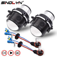SINOLYN HID Bi xenon Fog Light Lens Car Projector Lens Driving Lights For Mazda 3/Mazda 6/Mazda CX 5 CX7/Mazda Axela Accessories