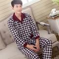 2016 Новые Мужские Теплые Толстые Хлопчатобумажные Пижамы Установить С Длинным Рукавом Пижамы Пижамы Мужчин Плюс Размер M, L, XL, XXL3XL 096