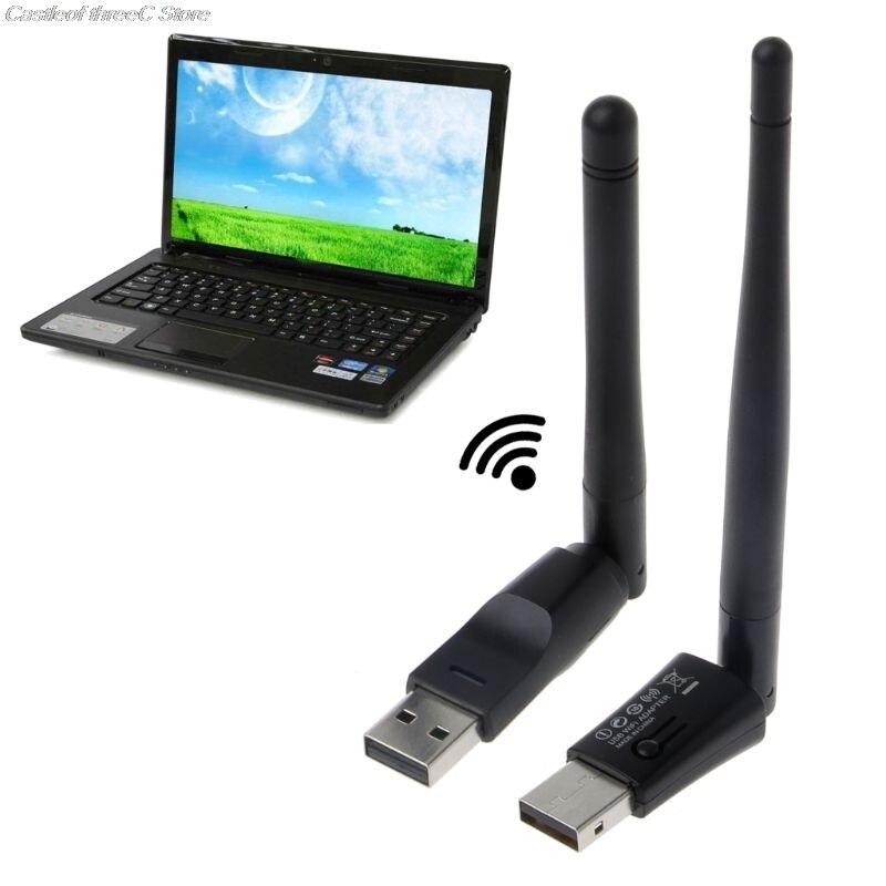 High Speed Mini Wireless Wifi Adapter 150 Mbps 2dBm 5dBm Antenna USB Wifi Receiver Network Card 802.11b/n/g