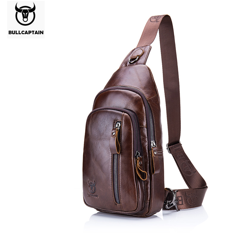 BULLCAPTAIN Fashion Genuine Leather Crossbody Bags men Brand Small Male Shoulder Bag casual men's music chest bags messenger bag bull captain2017 fashion genuine leather crossbody bags men small brand music messenger bags male shoulder bag chest bag for men