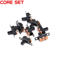 10PCS/Lot SS12F15 G6 Mini Slide Switch 1P2T Toggle Switch SMD PCB DPDT Vertical Switch Handle high 6mm high quality