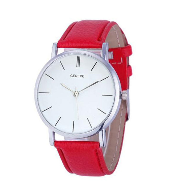 2018 Luxury Brand New Womens Geneve Retro Design PU Leather Band Analog Alloy Quartz Wrist Watch Relogio feminino Montre Femme hot new fashion quartz watch women gift rainbow design leather band analog alloy quartz wrist watch clock relogio feminino