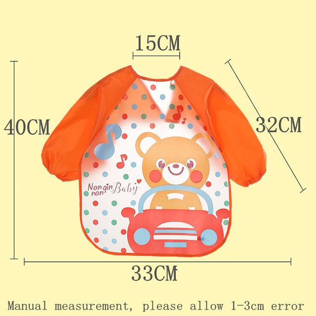 Long Sleeve Children Feeding Apron | Waterproof baby Bibs