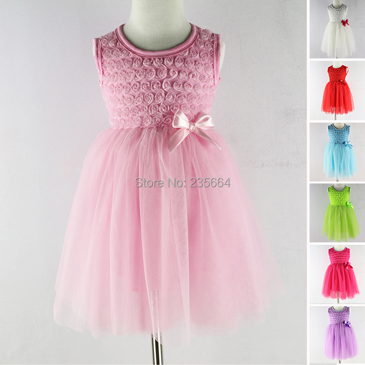 Summer chiffon cute baby dress,Party Wedding Birthday baby girls dresses,princess infant dress TUTU baby clothing Girl Dresses 3 colors summer little baby girls mesh princess dress kid girl party pageant tutu dresses quiet clothing 2 11t