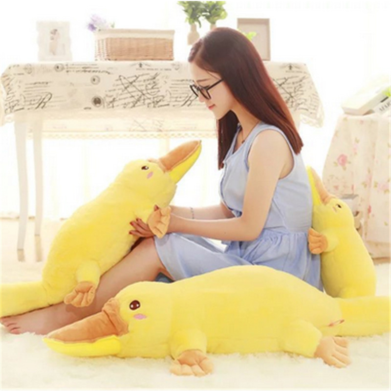 Fancytrader Big Fat Giant Stuffed Lying Duck Plush Doll Large Size Soft Anime Duck Pillow Cushion 130cm Best Toys for Children 50cm giant plush minion stuffed animal giant minion plush pillow big minion pillow giant stuffed minion toys doll