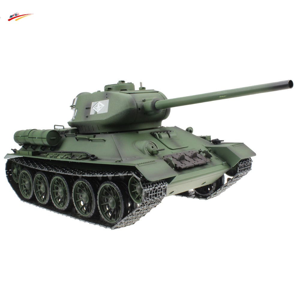 RC Tank 2.4G 1/16 Russian T-34/85 Remote Control Battle Tank AirSoft with BB+Smoking+Sounding Effect Electronic Tank Model Toy 1 32 fov80318 russian t 34 85 tank