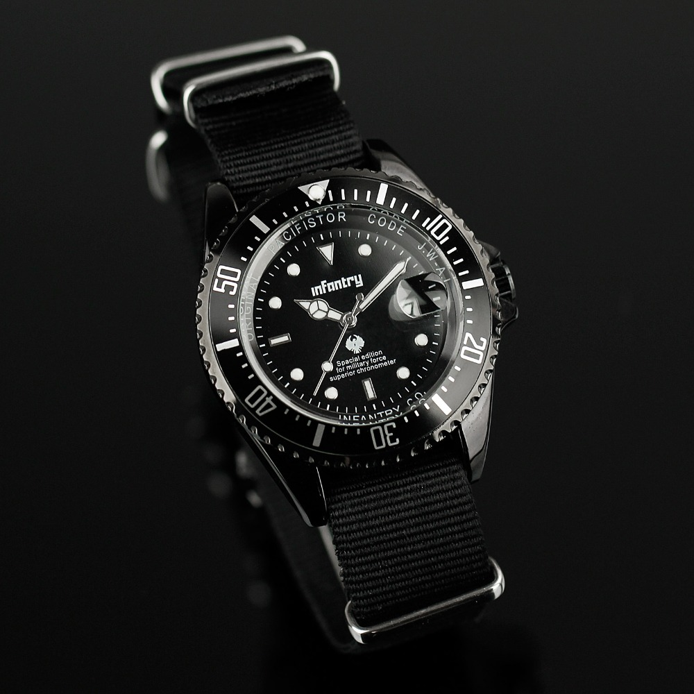 aliexpress com buy infantry mens watches relogio masculino date aliexpress com buy infantry mens watches relogio masculino date quartz watch black durable nylon strap top brand luxury tactical military watches from