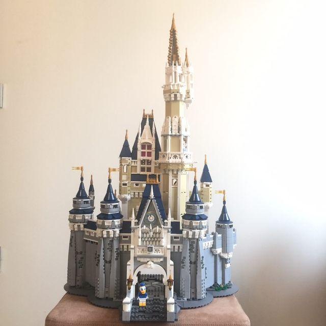 DHL 16008 Cinderella Princess Castle City set 4080pcs Model Building Block Kid DIY Toy Birthday Gift Compatible 71040