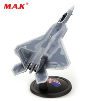 Collectible 1/72 Scale Military Alloy Simulation Aircraft F 22 Raptor Fighter Airplane With Static Model for Fans Children Gift