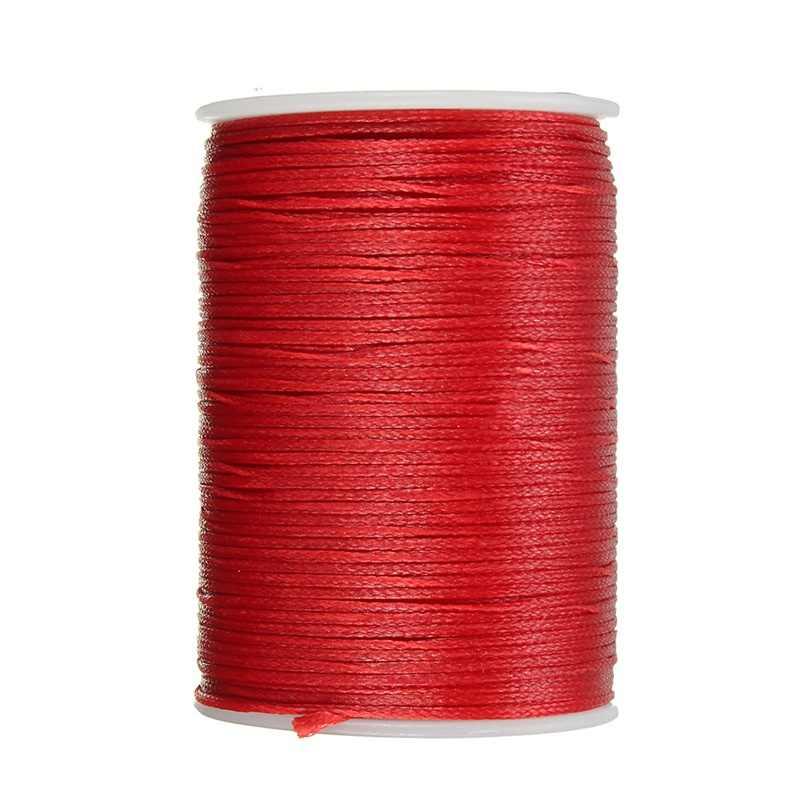 1 шт. 78 м 0,8 мм многоцветная швейная нить кожаный вощеный моток веревки для DIY инструмент для рукоделия ручная полиэфирная нить