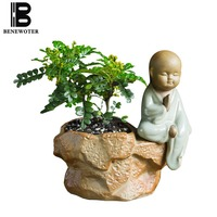 Creative Design Pots for Flowers Cute Little Monk Flower Pot Indoor Office Living Room Desktop Bonsai Home Garden Plant Planters