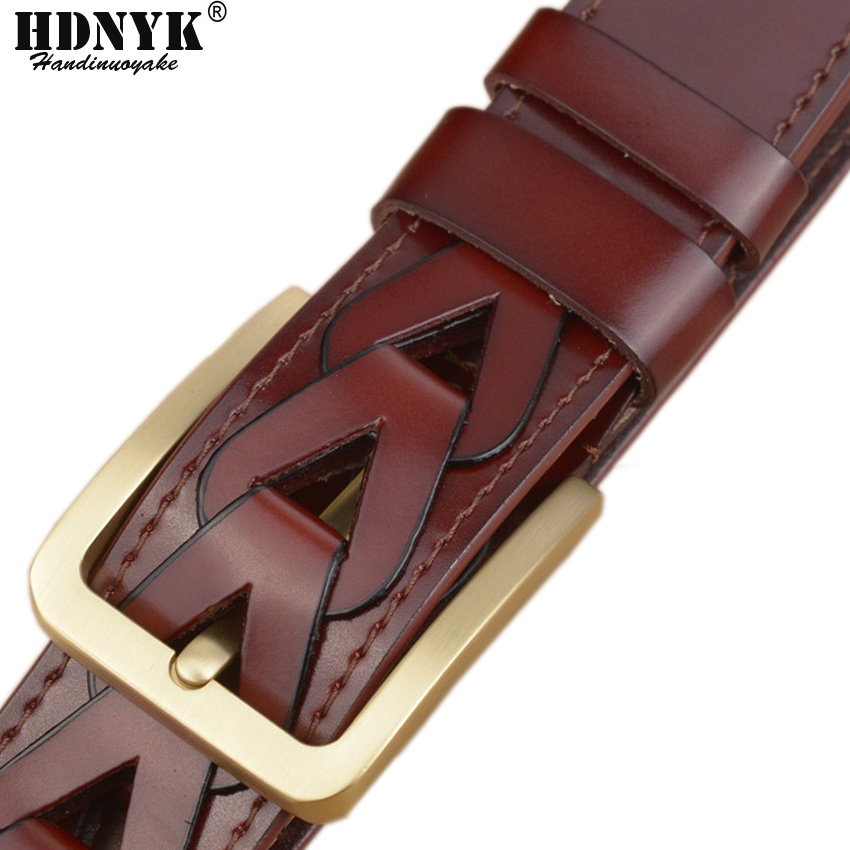 2017 New Arrived Fashion Designer Belt 100% Genuine Leather, Famous Brand Luxury Belts Men Belts Male Hand-made Waist Strap