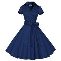 Woman Dresses 2017 Audrey Hepburn Dress Retro 1950s 60s Rockabilly Polka Dots Bow Pinup Ball Grown